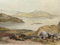 19th Century Scottish Highlands Watercolour Loch Kishorn By William Leighton Leitch (5 of 36)