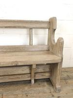 Antique Pine Chapel Pew Bench (4 of 9)