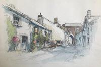 Original Watercolour 'Pub & Gateway' by Aubrey Sykes 1910-1995 (2 of 2)