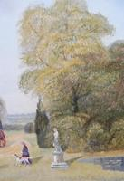 Large oil on canvas Old fashioned  view  Listed artist Richard Temple (9 of 10)