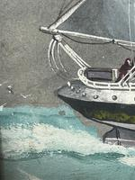 """Edwardian Watercolour """"Champion Of The Seas"""" Ship Black Ball Line Off Cape of Good Hope Signed Pierhead Artist Williams (24 of 39)"""