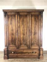 Large Victorian Mahogany Triple Compactum Wardrobe (6 of 11)