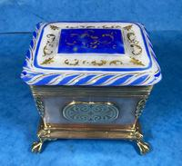 Arts & Crafts Glass and Brass Single Tea Caddy. (4 of 18)