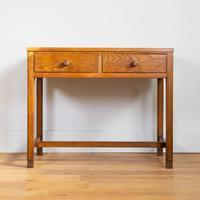 Vintage Mid Century 2 Drawer Oak Desk by Gordon Russell (10 of 14)