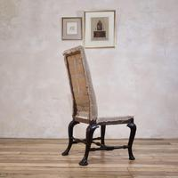 18th Century Ebonised & Upholstered Queen Anne Side Chair (12 of 13)