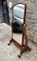 Victorian Floorstanding Mahogany Cheval Mirror (3 of 16)