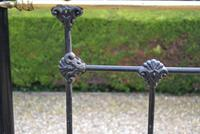 Antique King Size 5ft Half Tester Bedstead by R W Winfield. Bed Restored in your Colour (18 of 19)