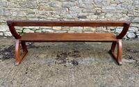 Antique Pitch Pine Gothic Style Church Pew Bench (13 of 13)