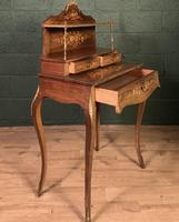 French Inlaid Rosewood Ladies Writing Table (4 of 8)