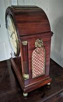 George III Mahogany Fusee Bracket Clock (3 of 6)
