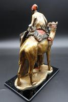 Late 19th Century Bronze Figure of Carpet Seller Astride a Camel (3 of 3)