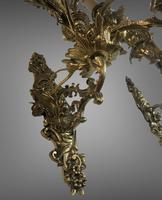 Pair of Stunning Huge 7 Arm French Rococo Style Gilt Bronze Wall Lights Sconces (8 of 9)