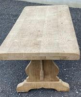 Bleached Oak Trestle End French Farmhouse Dining Table (7 of 22)