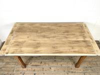 Antique Oak Scrub Top Kitchen Table (7 of 11)