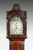 19th Century Mahogany Painted Dial Longcase Clock (4 of 6)