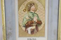 Antique Illuminated Watercolour of Saint Rochus (2 of 7)