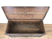 Antique 18th Century Carved Oak Coffer (M-1635) (9 of 13)