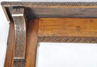 Antique Late 19th / Early 20th Century Victorian Movement Oak Fire Surround (2 of 3)