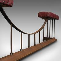 Antique Fender Seat, English, Brass, Leather, Fireside Bench, Victorian c.1880 (10 of 12)
