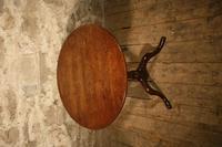 Small Oak Tripod Table (4 of 6)