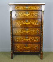 Stunning Dutch Marquetry Chest Marble Top