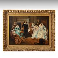 Large 19th Century Scene of William Shakespeare, British School Oil on Canvas (3 of 4)
