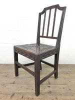 Pair of Antique Carved Oak Hall Chairs (9 of 13)