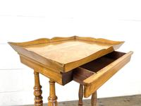Antique Satin Birch Tray Top Side Table (5 of 10)