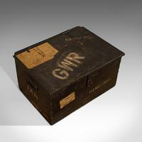 Antique Railway Carriage Chest, English, Pine, Mail Trunk, GWR, Edwardian, 1910 (8 of 11)