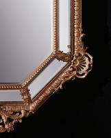 Large 19th Century French Octagonal Gilt Cushion Mirror (3 of 4)