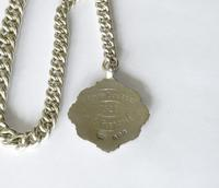 1920s Silver Pocket Watch Chain & Tennis Fob (3 of 4)