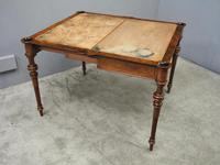 Victorian Inlaid Burr Walnut Games Table (6 of 9)