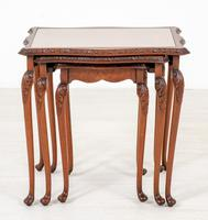 Pretty Queen Anne Style Nest of 3 Tables c.1930 (2 of 8)