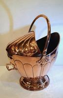 19th Century Polished Copper Helmet Coal Scuttle (4 of 4)