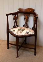Mahogany Art Nouveau Corner Chair (7 of 10)