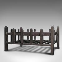 Antique Fire Basket, English, Cast Iron. Fireside, Grate, Late Victorian c.1900 (3 of 10)