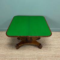 Striking William IV Figured Mahogany Antique Card / Games Table (3 of 9)