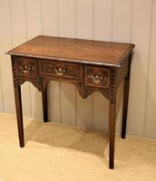Early 19th Century Carved Oak Lowboy (2 of 11)