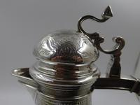 Good Victorian Silver Claret Jug. London 1866 by Edward & John Barnard (5 of 10)