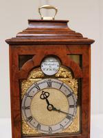 Miniature Walnut Bracket Clock by Clockmaker ro the King (5 of 11)