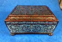 English Boulle & Brass Kingwood Edged Jewellery Box (15 of 16)