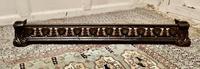 Decorative Victorian Cast Iron Fender