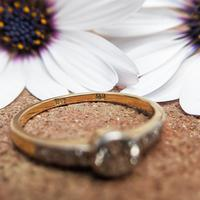 Antique 18ct Gold Diamond Solitaire Ring, Old Cut Engagement Ring (5 of 6)