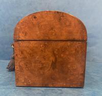 Victorian Brassbound Burr Walnut Stationary Box (6 of 11)
