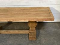 Enormous French Bleached Oak Farmhouse Dining Table (35 of 38)