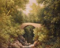 """Oil Painting by  William Ward Gill """"A North Wales Bridge"""" (3 of 5)"""