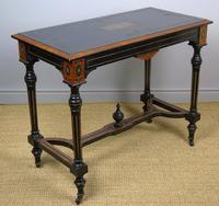 Outstanding Aesthetic Ebonised Burr Walnut Table c.1870 (3 of 10)