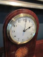 Antique Sheraton Inlaid 8 Day Mantel Clock (2 of 7)