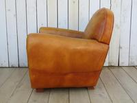 Large French Leather Club Chair (4 of 10)