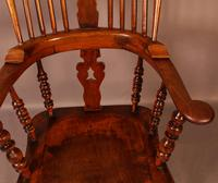 Victorian Broad Arm Windsor Chair Ash & Elm (8 of 9)